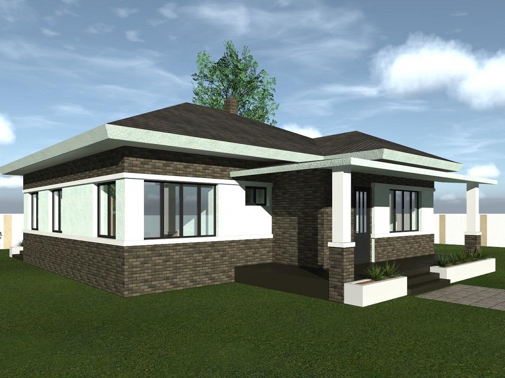 Ціна проекту одноповерхового будинку Грей