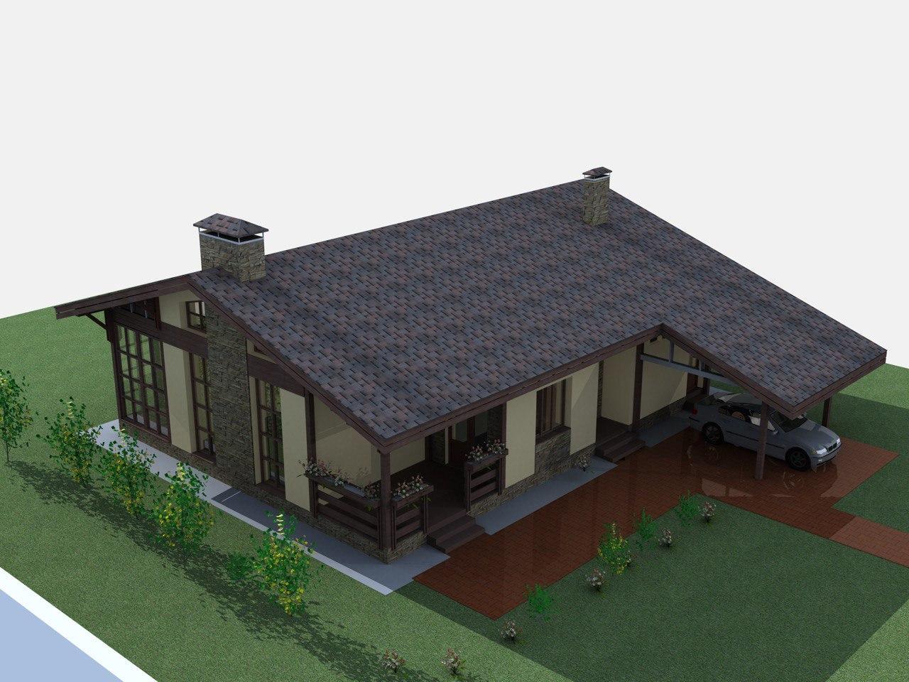 Заказать проект одноэтажного дома Рут