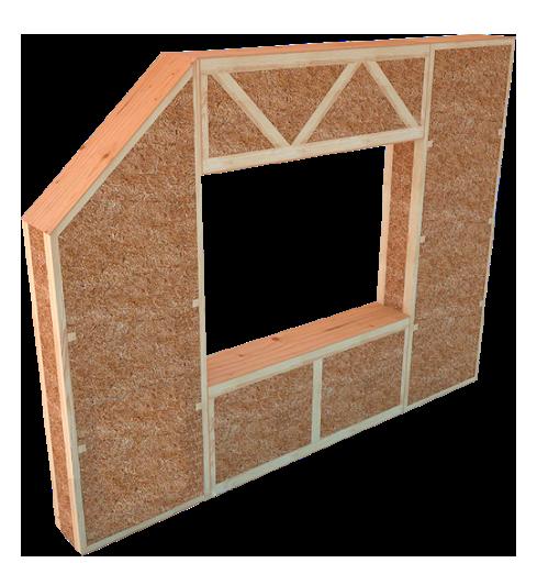 Склад солом'яних панелів