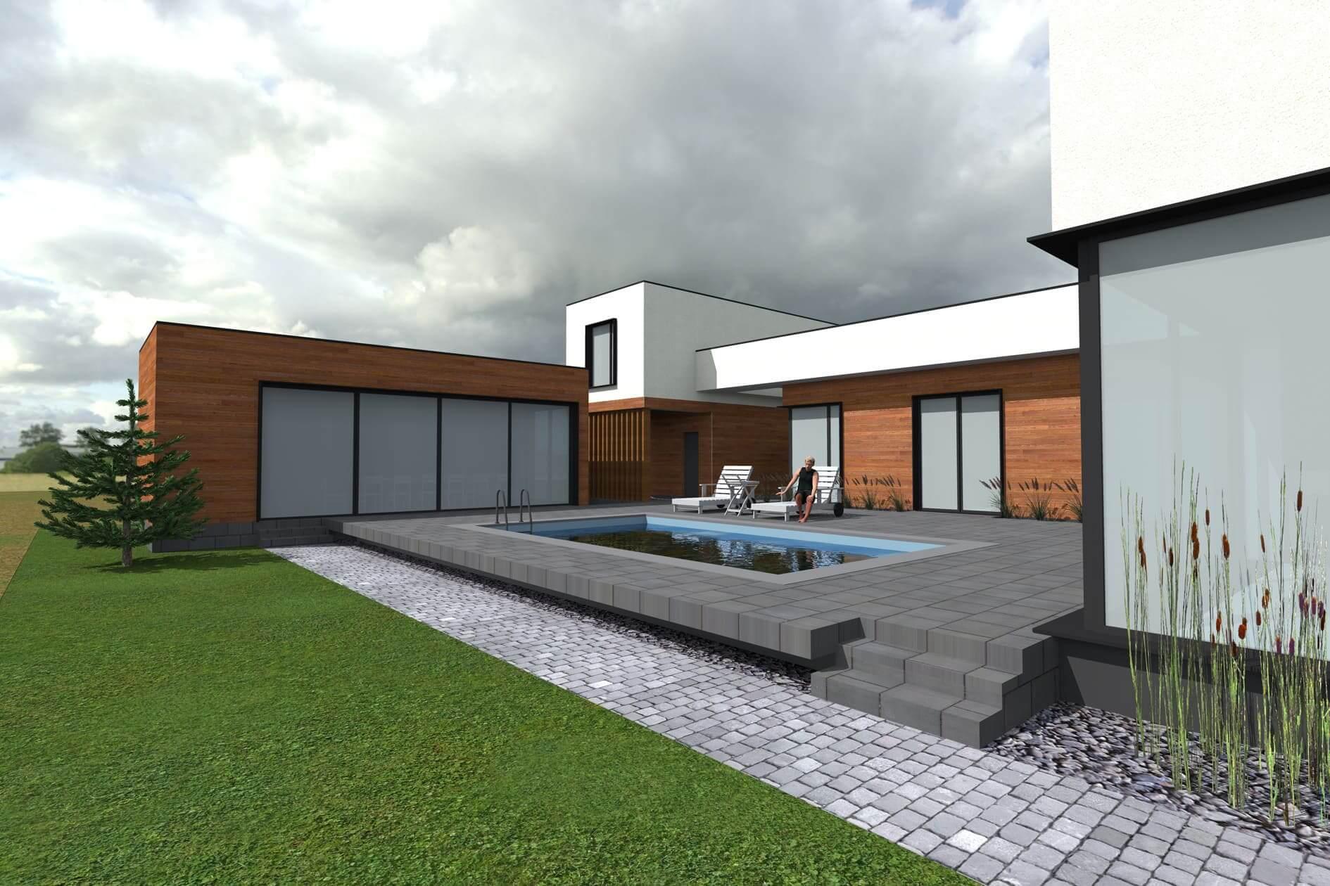 Замовити індивідуальний проект одноповерхового дому Міріам