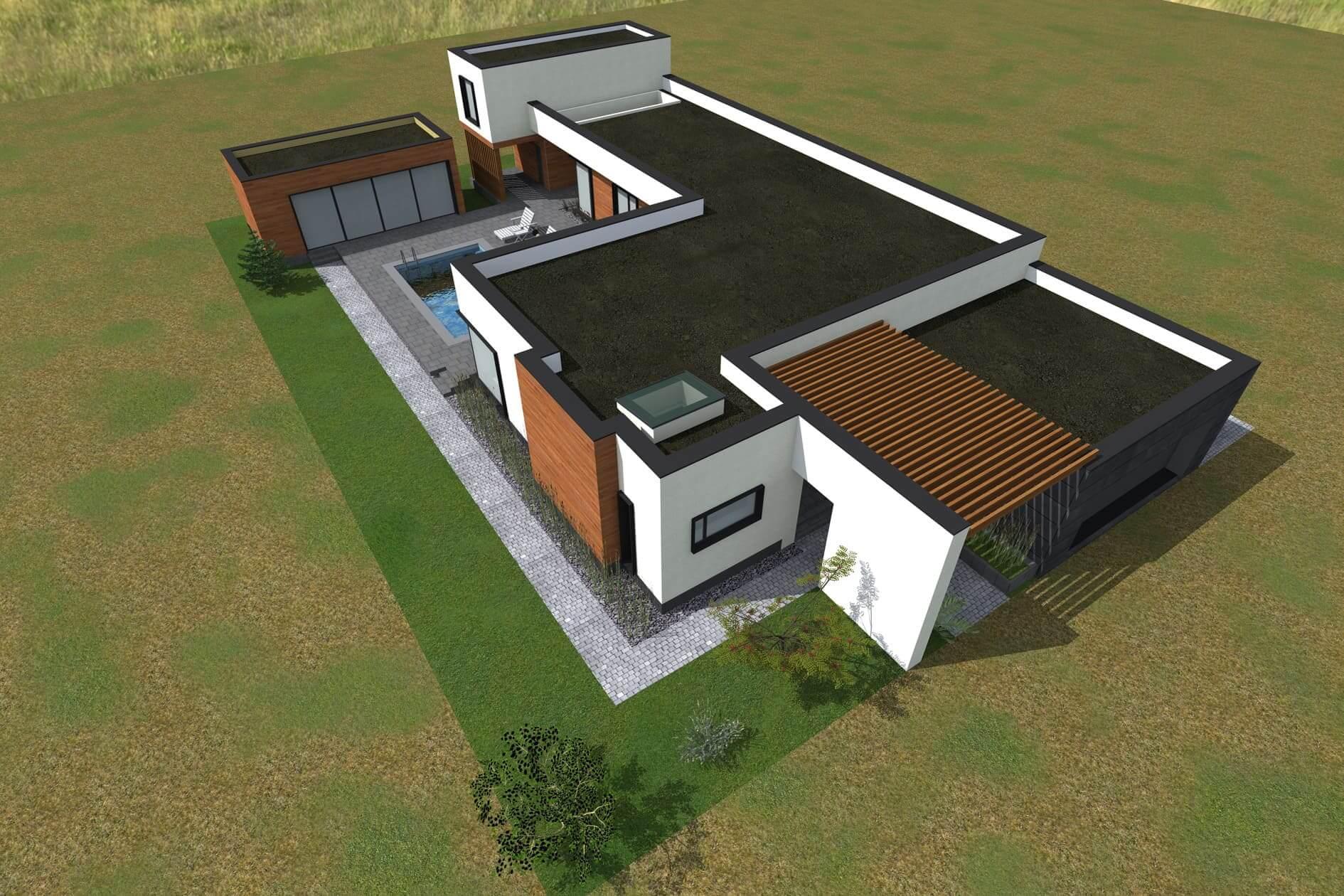Розробити індивідуальний проект одноповерхового дому Міріам