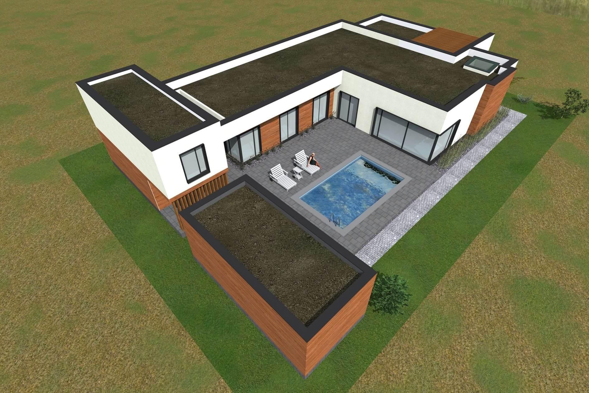 Розробити робочий проект одноповерхового дому Міріам