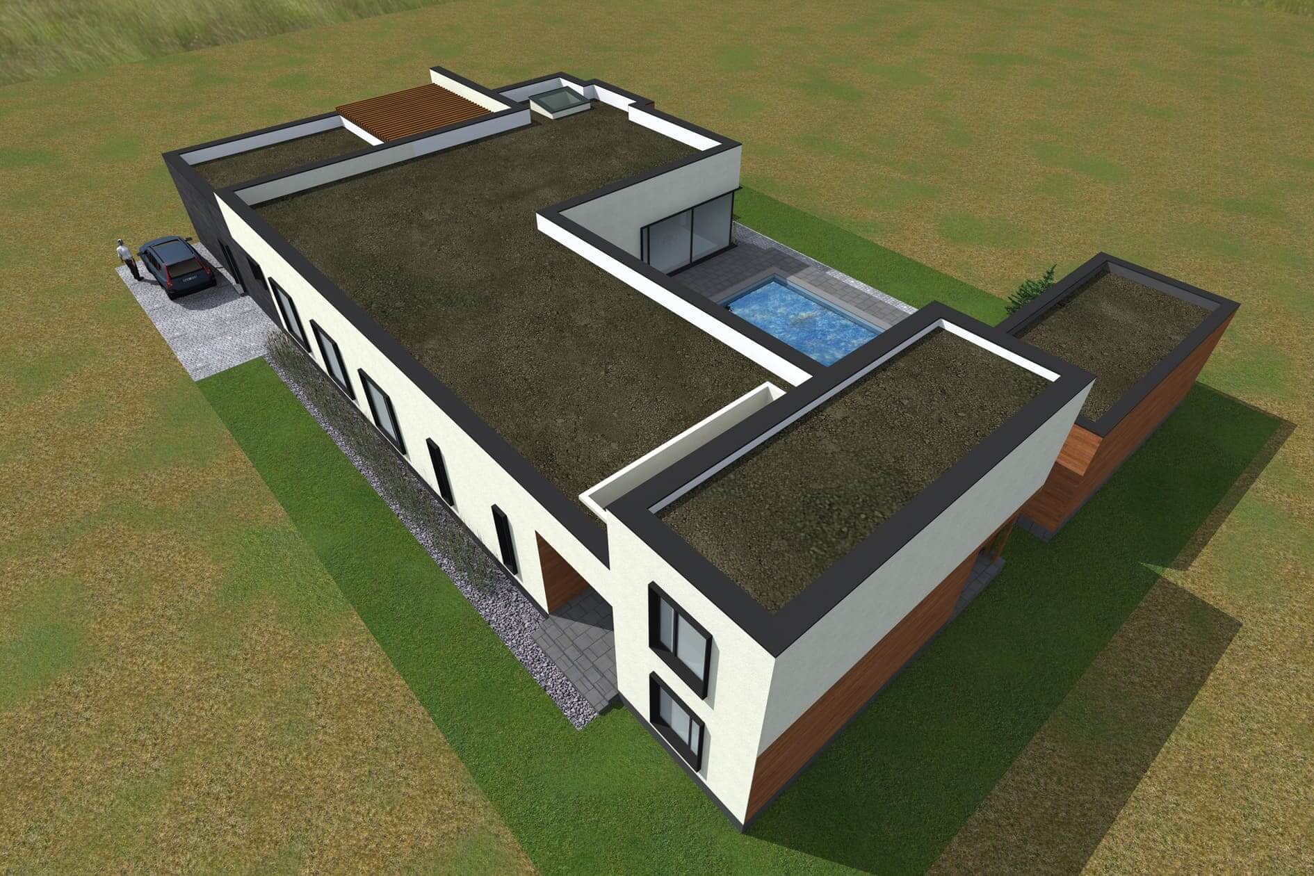 Розробити проект одноповерхового дому Міріам