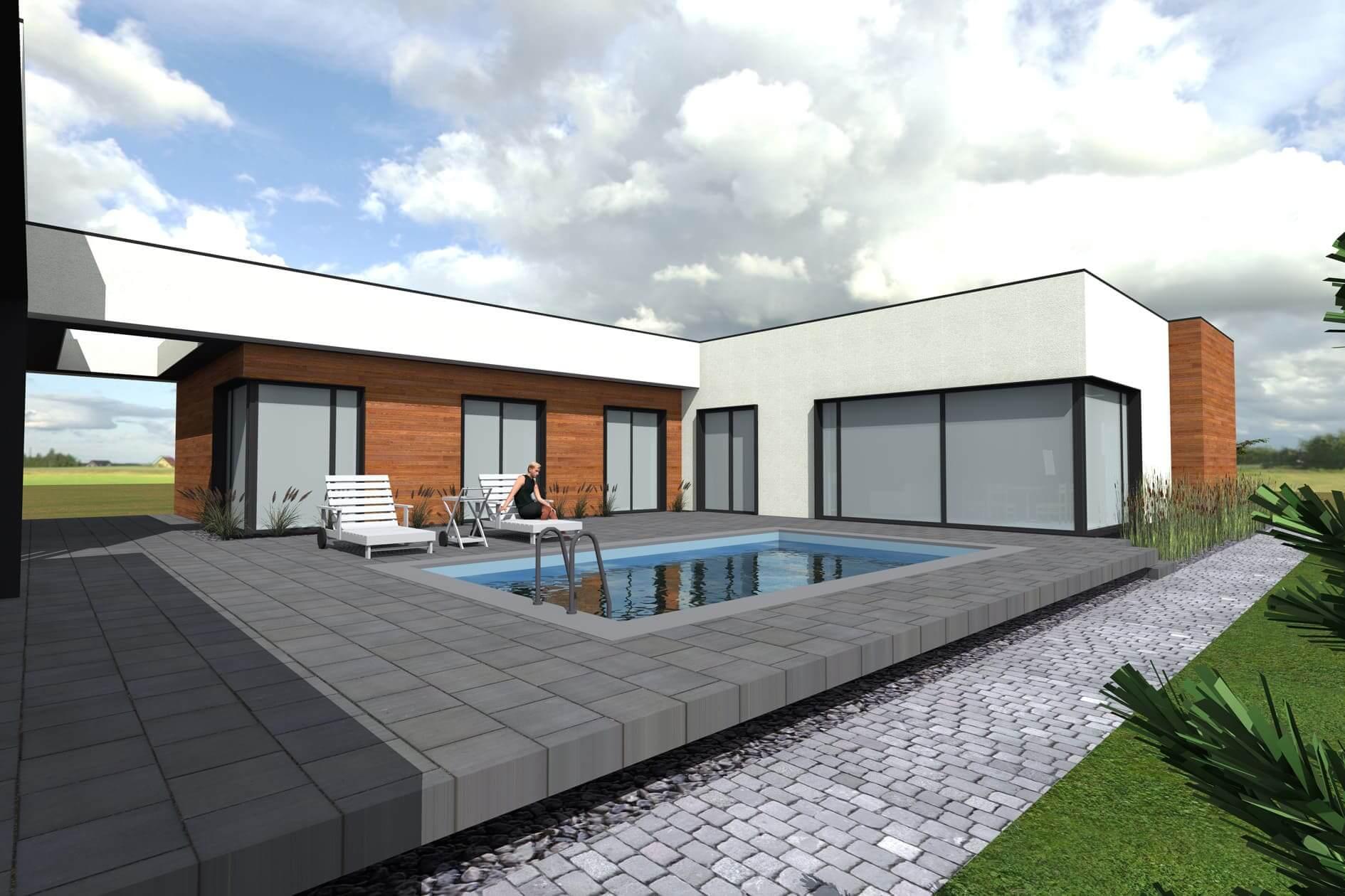Вартість проектування одноповерхового дому Міріам