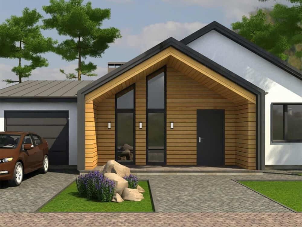 3д модель будинку гараж